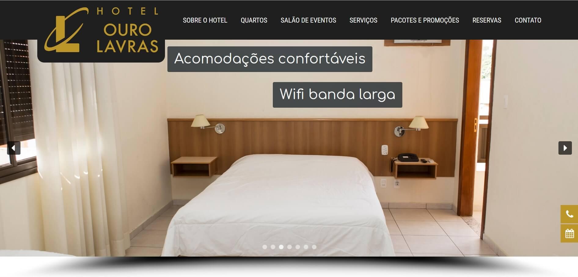 Criação website - Hotel Ouro Lavras MG