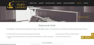 Criação website - Hotel Ouro Lavras - Sistema de reservas