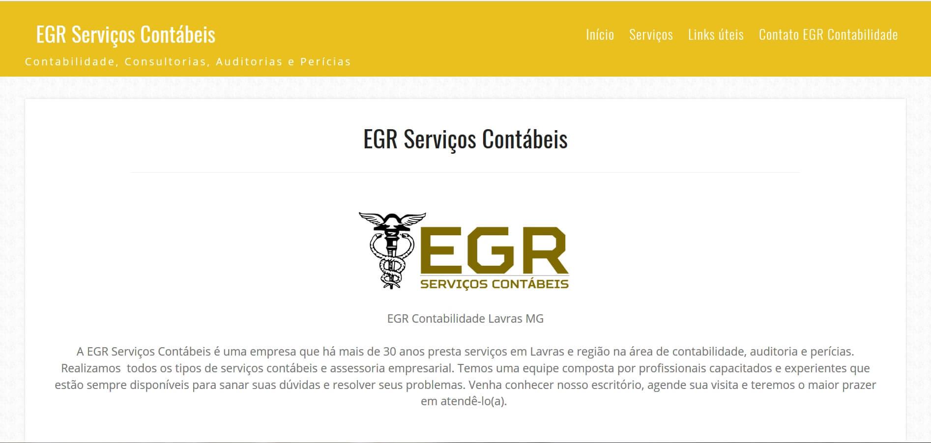 EGR Contabilidade - Lavras MG